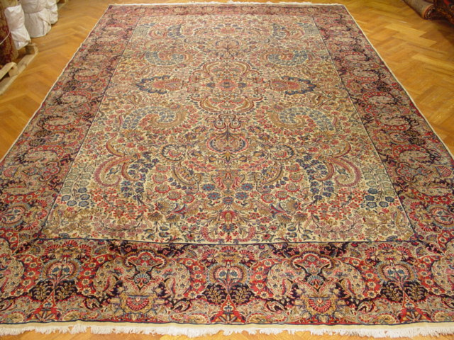 Image Is Loading 11x17 Antique Persian Kerman Lavar Rug