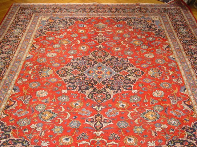 authentic classic quality persian kashan rug 10x15 | ebay