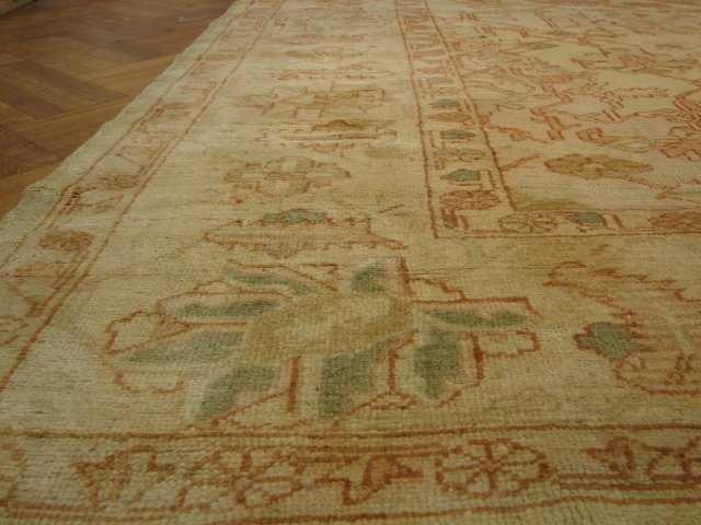 Antique 12x15 Ushak Rug 1900s Handmade Traditional Wool