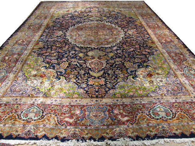 Hi end silk wool 12x17 persian tabriz rug brand new ebay for High end carpet brands