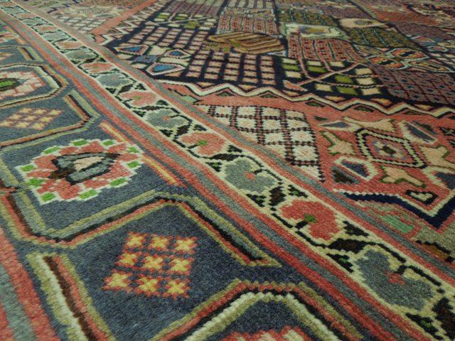 7x10 Antique Persian Joashagan Rug Multi Color Panel Ebay