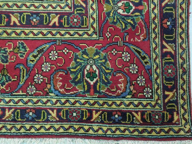 12x16 Red Persian Tabriz Rug Old Handmade Iran 60s Ebay