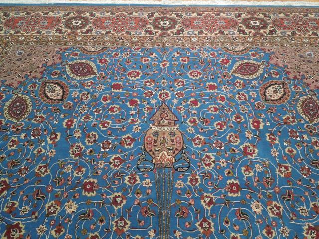 10x16 Authentic Persian Tabriz Rug Royal Blue Ebay