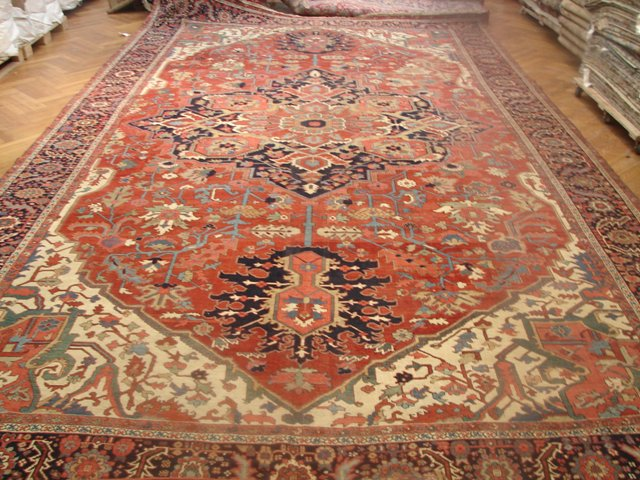 12x21 Antique Persian Heriz Serapi Rug