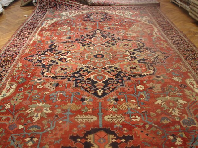 12x21 Antique Persian Heriz Serapi Rug Ebay