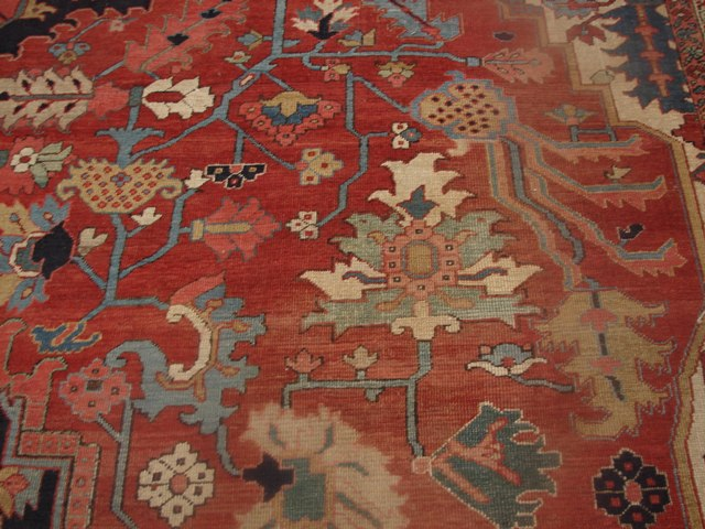 12x21 Antique Persian Heriz Serapi Rug Ebay