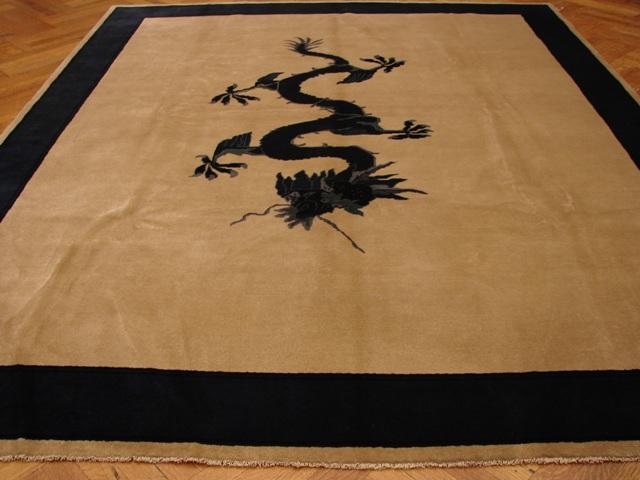 Antique Art Deco 8x10 Chinese Dragon Design Wool Rug Ebay