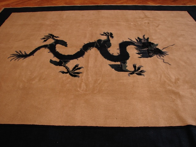 Antique Art Deco 8x10 Chinese Dragon Design Wool Rug Ebay