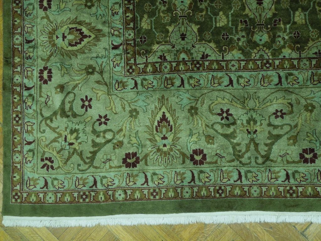 Pre Owned 12x15 Quality Wool Rug Perfect Condit Olive Ebay