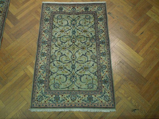 4x6 Lt Green Authentic Persian Kashan Rug Ebay