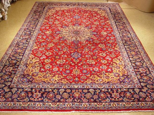 Isfahan genuine handmade persian 10x15 rug ebay for 10x15 room design