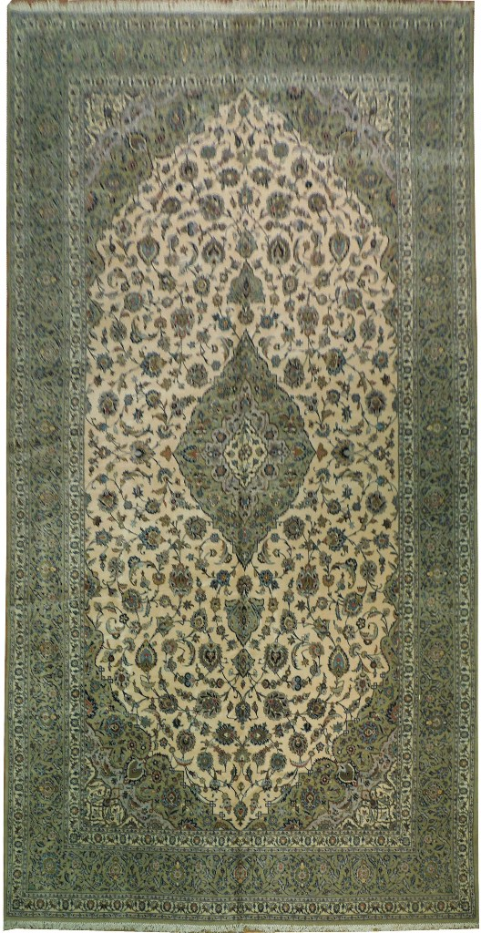 9'10'' x 19'5''  Kashan  rug