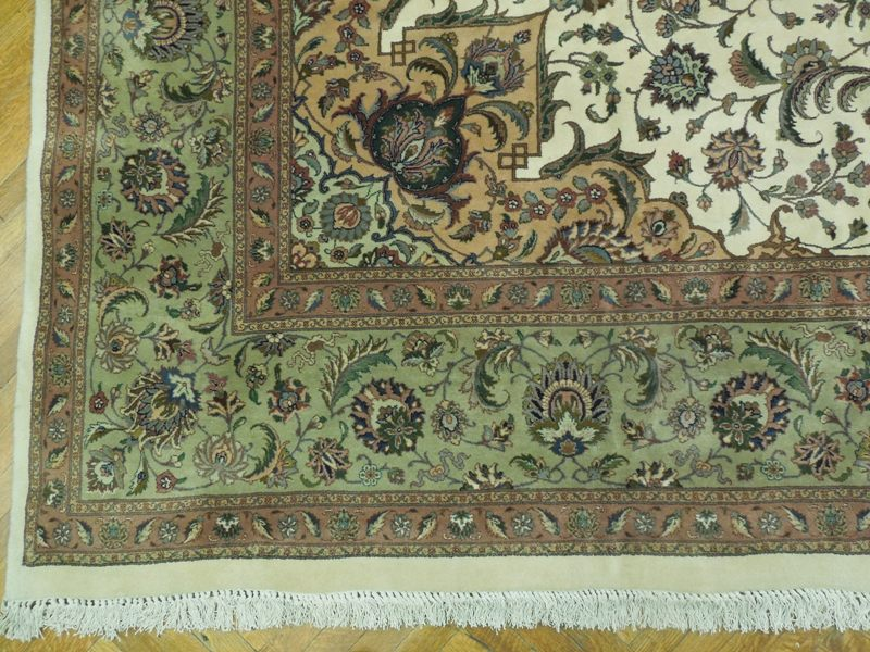 11x22 Authentic Persian Tabriz Rug Wool Amp Silk 400 Kpsi Ebay
