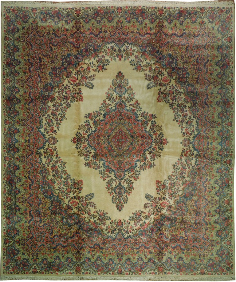 Sale 12x14 persian kazvin thick wool rug iran 39 s authentic for Thick area rugs sale