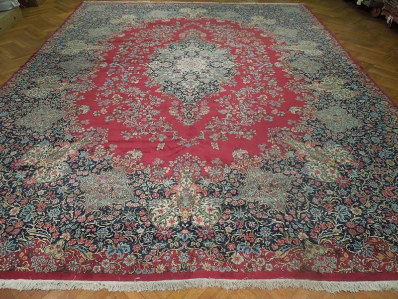 13x17 Fine Persian Lavar Kerman Rug Handmade Iran 1950 Ebay