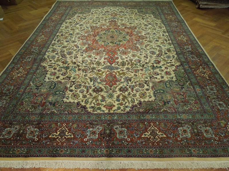 10x14 Authentic Persian Tabriz Rug Nature Wildlife Ebay