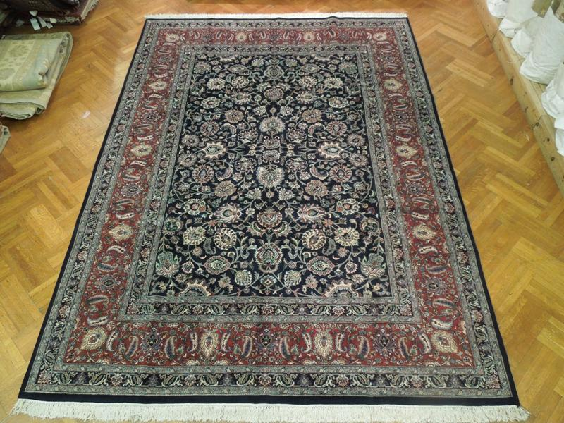 10x14 High Quality Rug New Handmade Midnight Blue Ebay