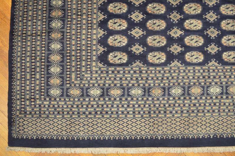 Royal Navy Blue Oriental 12x18 Handmade Bokhara Rug Ebay