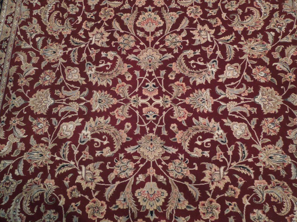Fine Wool Amp Silk Rug Burgundy 8x10 Area Rug Handmade