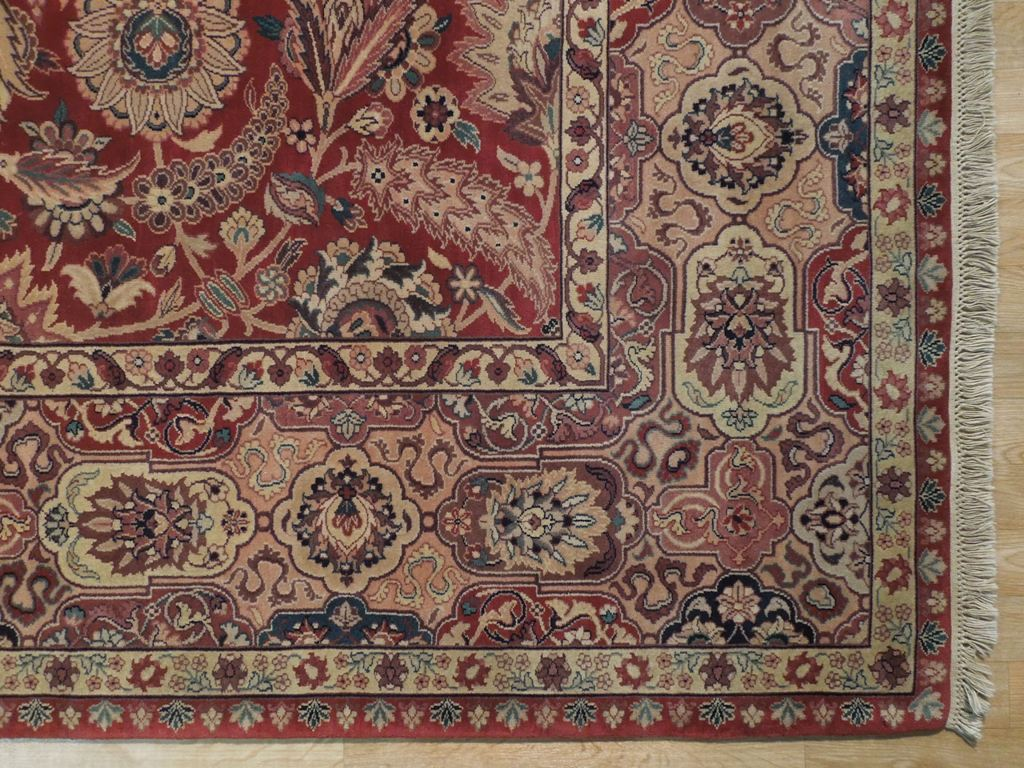 New 8x10 Quality Hand Knotted Wool Rug Red Ebay