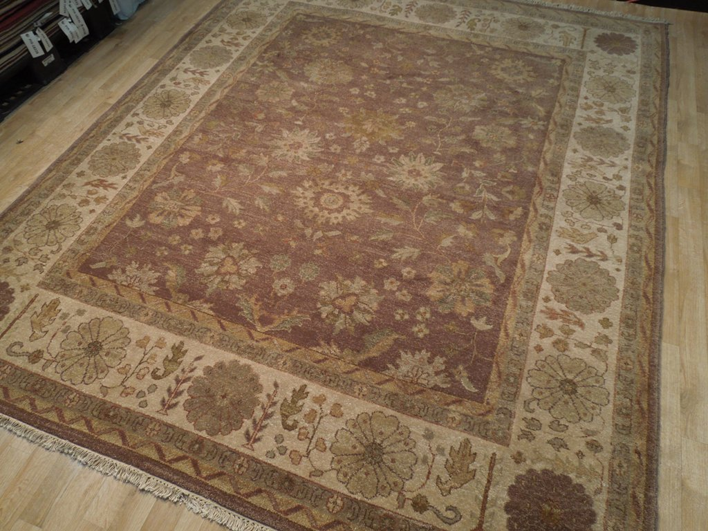 8x10 BROWN RUST Oushak New Rug