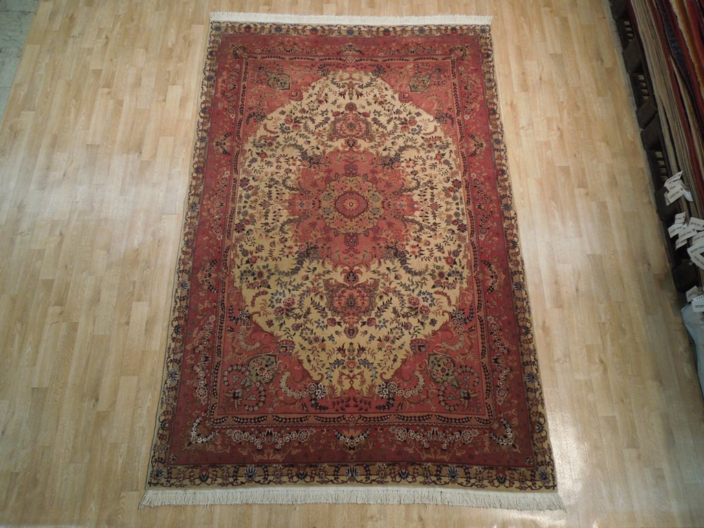 6x9 Wool Amp Silk Oriental Sino Tabriz Area Rug 260 Kpsi