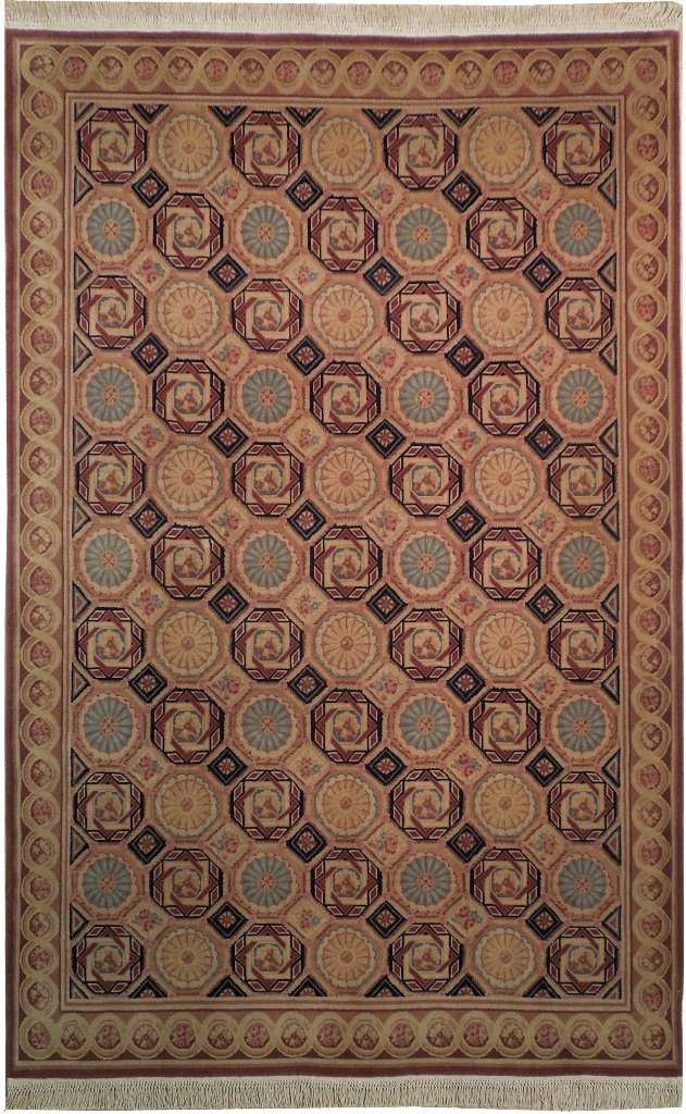 french decor 6x9 savonnerie quality area rug unsual