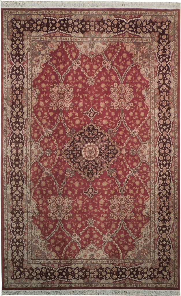 Oriental 6x9 High End Area Area Rug Red Brown Ebay