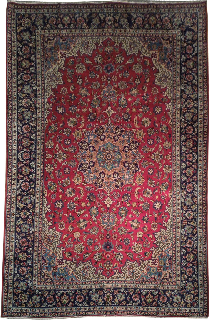 Authentic 10x16 Persian Isfahan Najaf Rug Red Blue Ebay