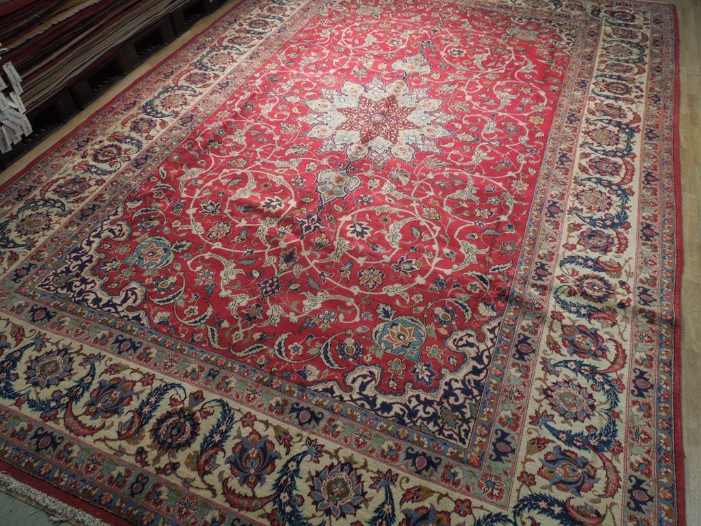 Estate Rug 10x15 Persian Semi Antique Esfahan Carpet Iran