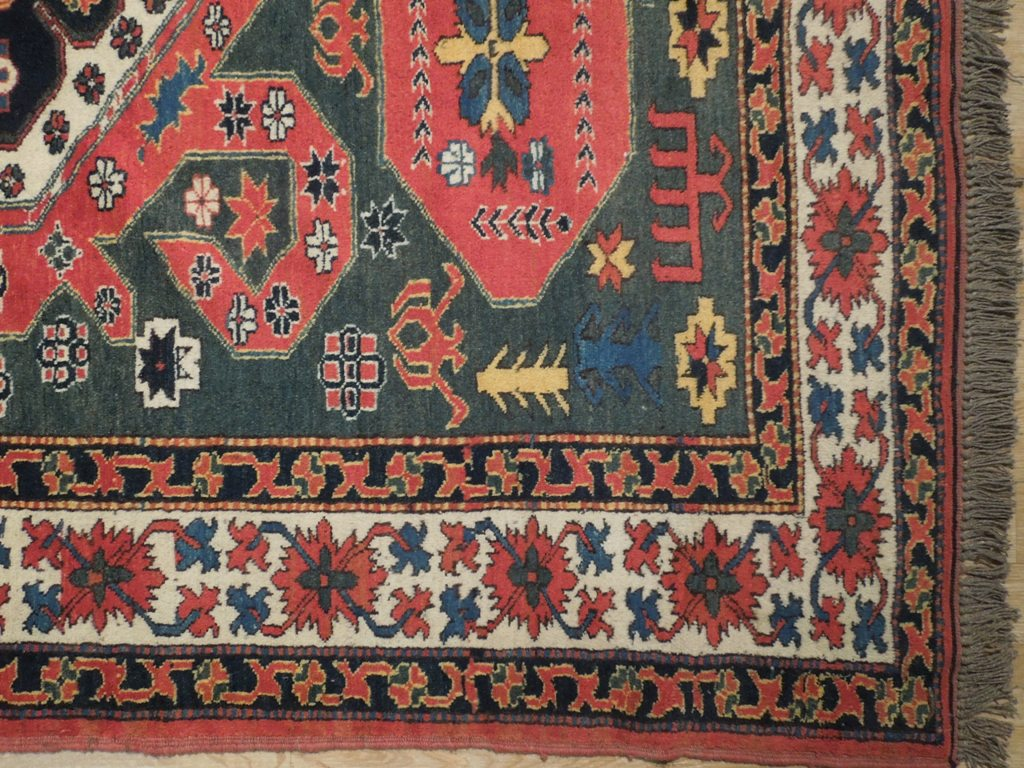 Green 6x7 Wool On Wool Kazak Handmade Area Rug Ebay