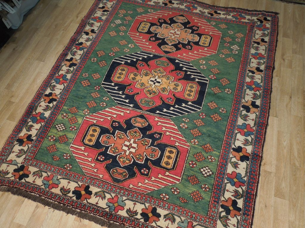 Perfect Condition 6x7 Hand Made Authentic Wool Rug Ebay
