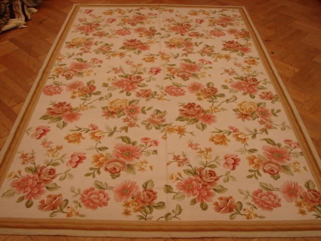 Botanic Rose Flower 6x9 Handmade French Needlepoint Rug Ebay