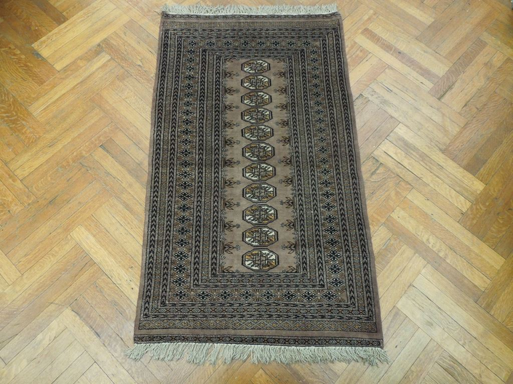 light brown 3x5 hand made wool area rug