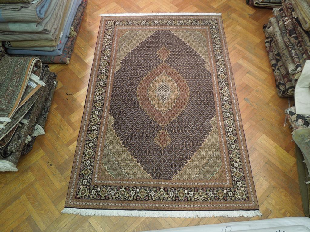 High End Persian Rug 7x10 Tabriz Mahi Carpet 400 Kpsi 50