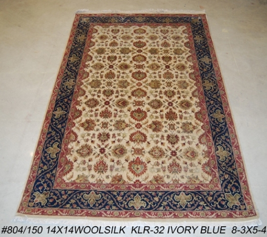 Fine Round Persian Bidjar Area Rug Hand Knotted Wool And: Fine Quality Oriental Wool & Silk 5x8 HANDMADE AREA RUG