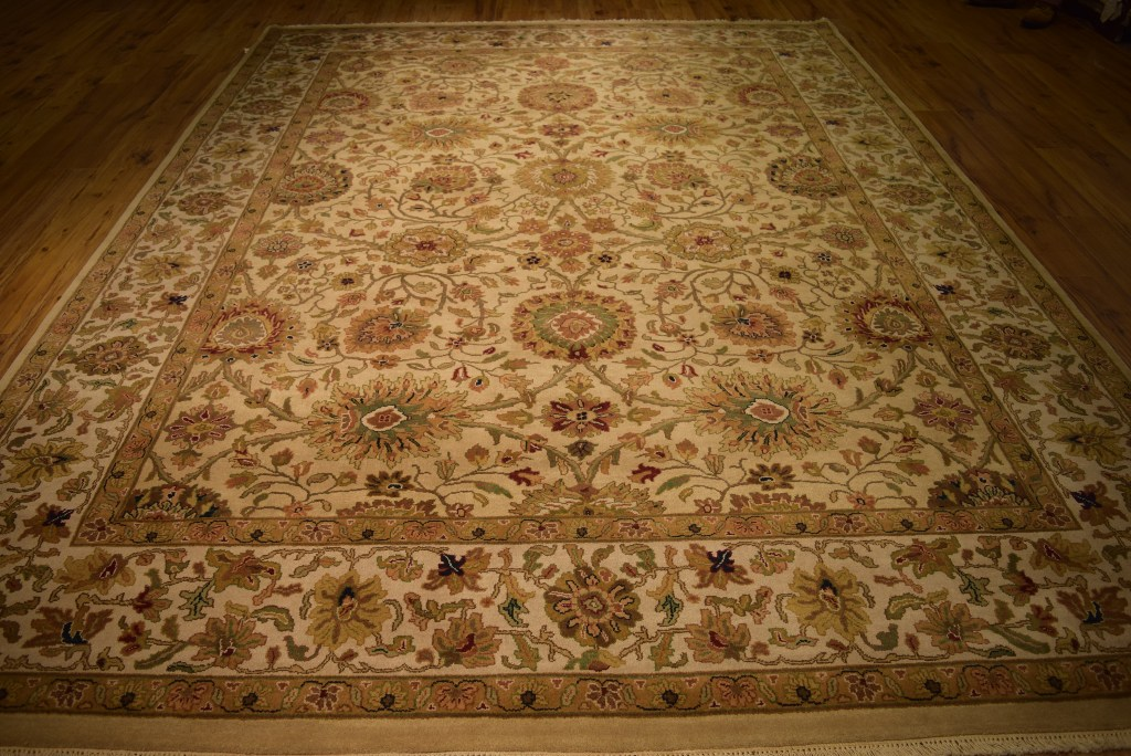 Oriental handmade rug 9 x 12 india jaipur discount rugs for Living room rugs 9x12