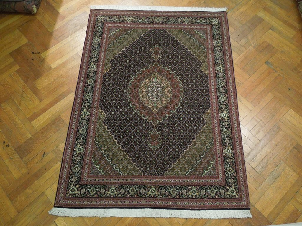 Jewel Tones New 5x7 Wool Amp Silk Persian Tabriz Rug Ebay