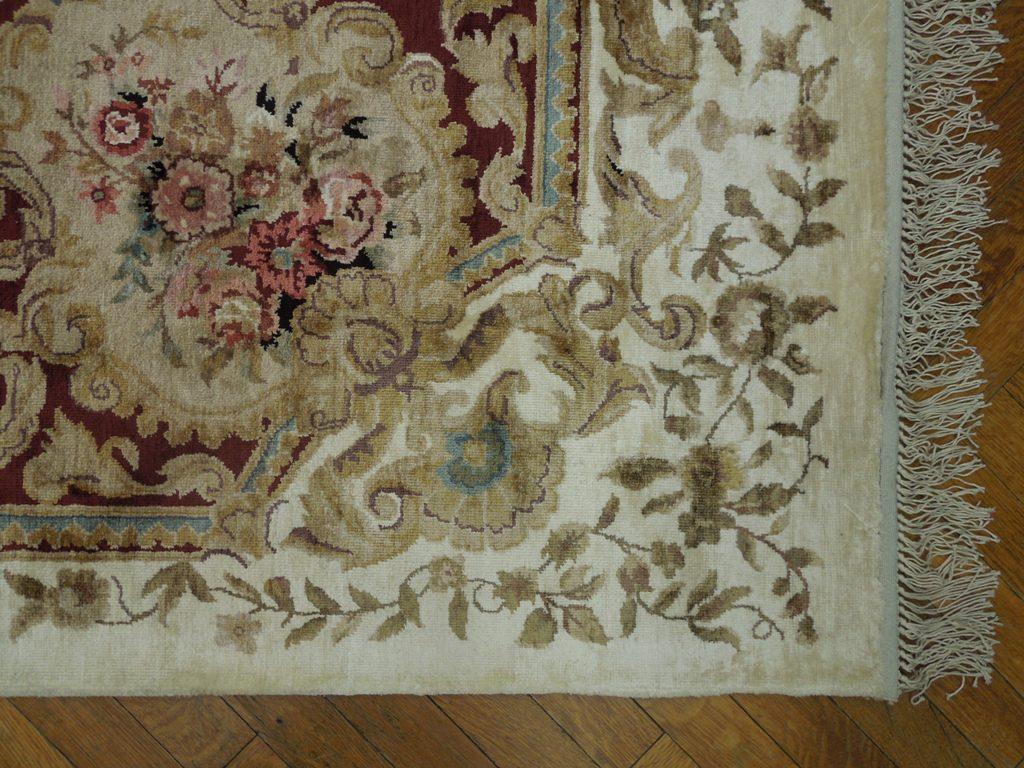 Pastel Jewel Tone 6x9 Handmade Art Silk Aubusson Rug