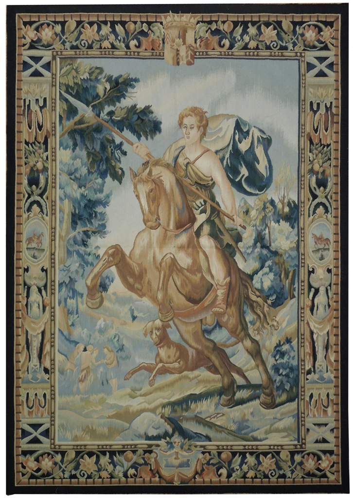 Brave Warrior Hunter Scene Handmade 5x7 Wall Tapestry Ebay