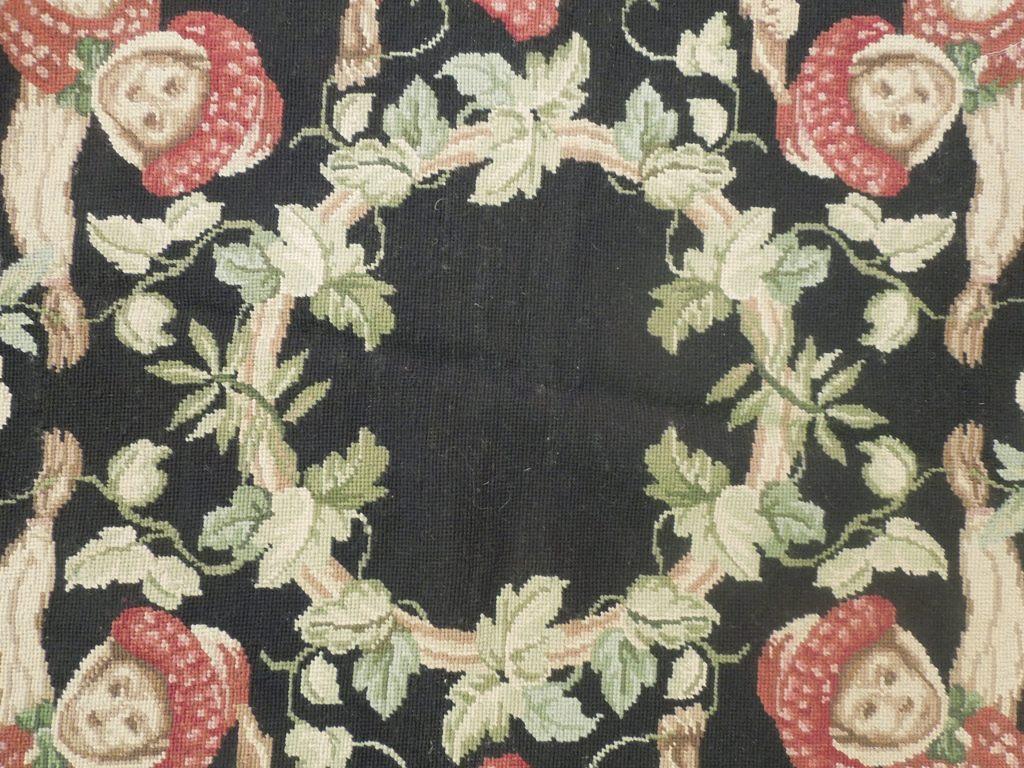 5 X 5 Needlepoint Flat Weave Round Rug Circus Monkeys Ebay