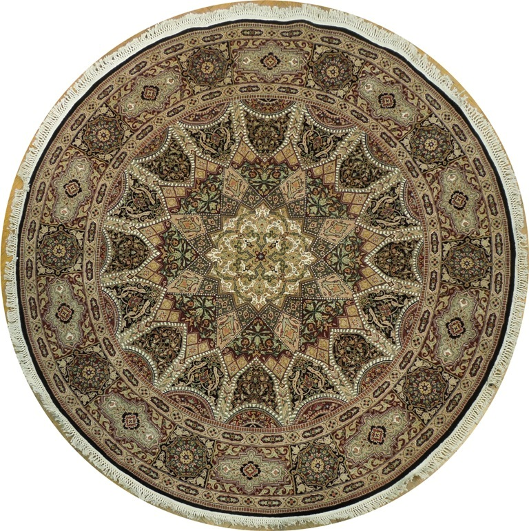 New Brand Devlin Persian Rug Handmade 100 Wool Area Rugs: Brand NEW 8x8 Traditional Handmade Wool&Silk Round Rug