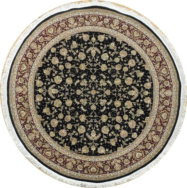 New Brand Devlin Persian Rug Handmade 100 Wool Area Rugs: HIGH END Oriental 7' X 7' BRAND NEW Wool&Silk Round Rug