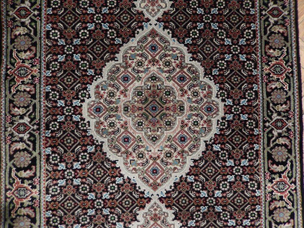 12 Feet Hand Knotted Wool Amp Silk Tabriz Mahi Rug Runner Ebay