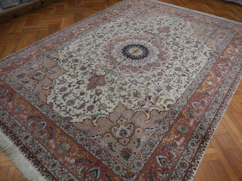 Fine Quality Weave 10x13 Wool Silk Persian Tabriz Rug Ebay