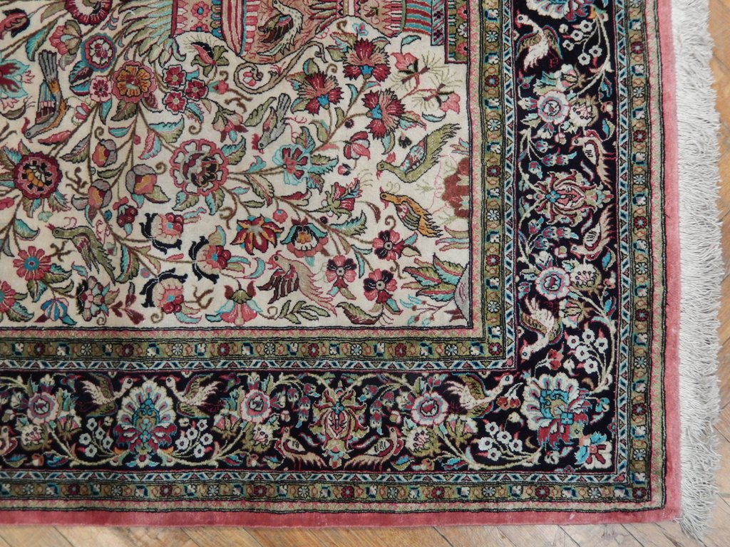 Old World Classic 5x7 Fine Silk Persian Qum Luxury Rug Ebay