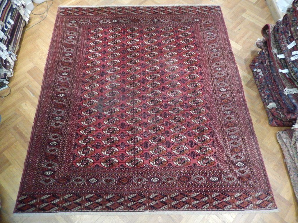 10x12 Antique Original Turkman Persian Bokhara Rug Ebay