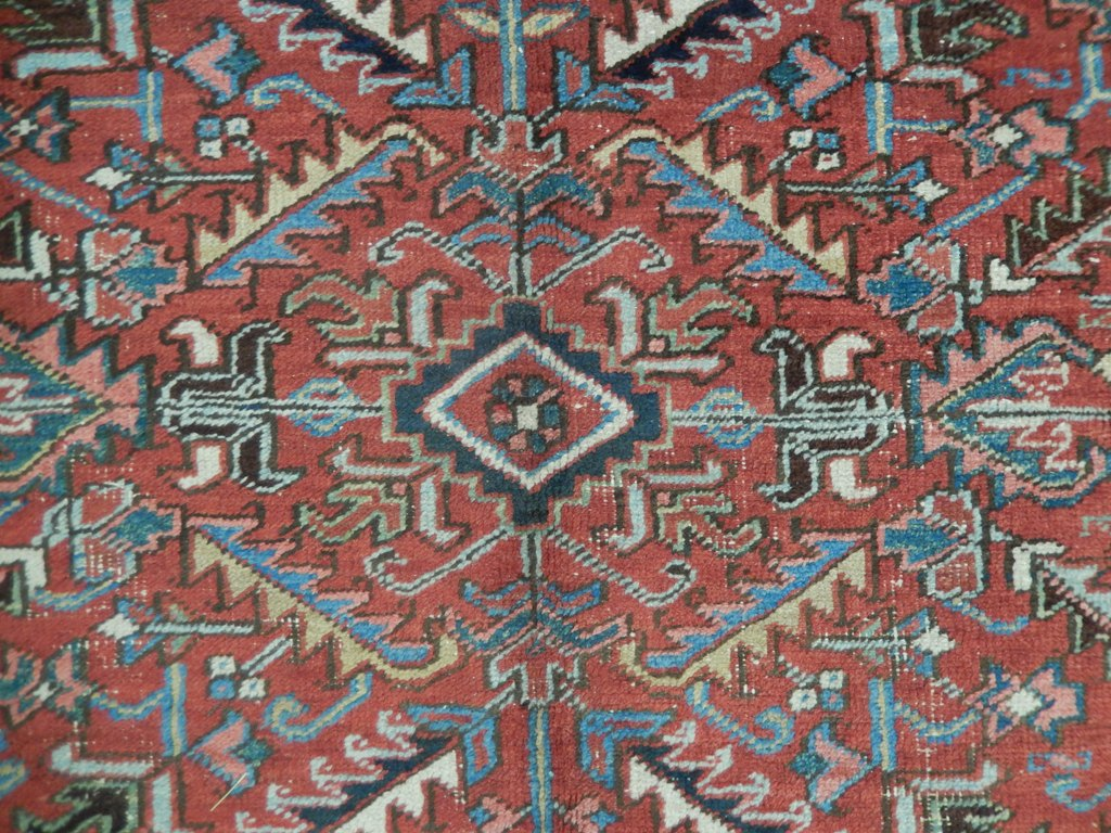 7x9 Ethnic Heriz Rug Tribal OLD Design PERSIAN CARPET