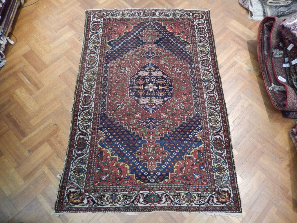 Semi antique persian rug 7x10 authentic area rug new for Area rugs new york