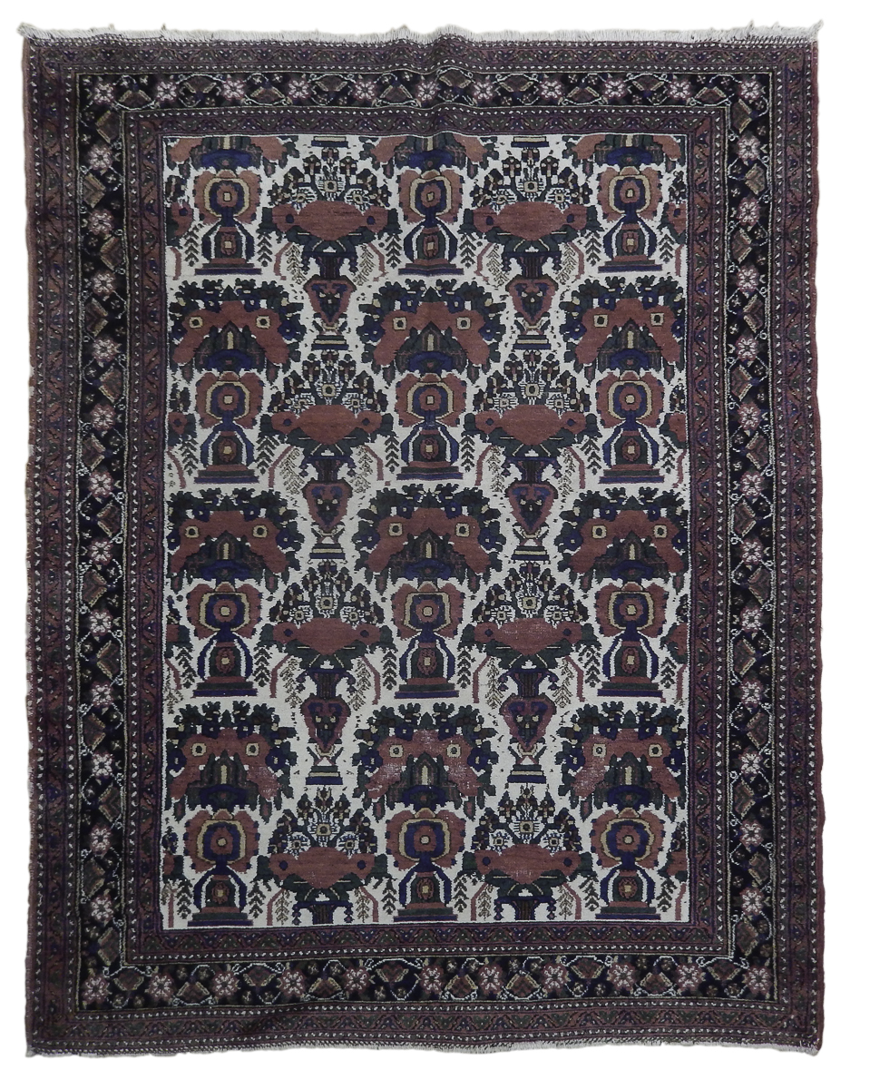 6x7 Antique Persian Afshar Bakhtiar Rug Ebay